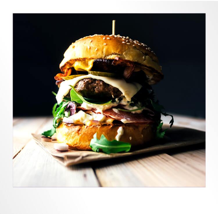 Burger Polaroid Photo
