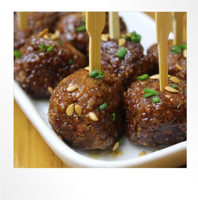 Meatballs on a Stick Polaroid Photo