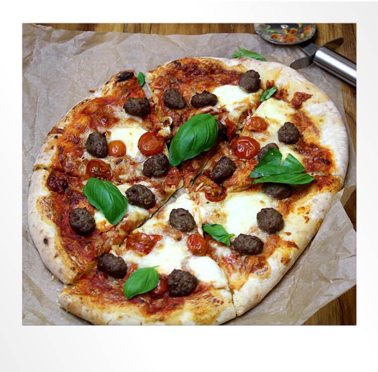 Meatballs on Pizza Polaroid Photo