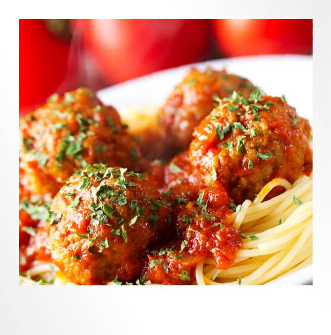 Spaghetti Meatballs Polaroid Photo
