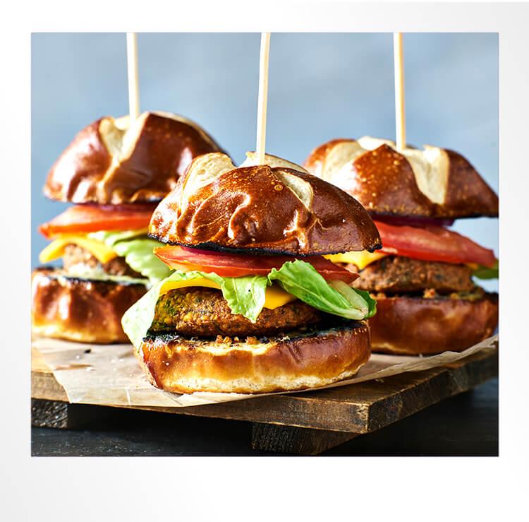 Mini Burgers Display Polaroid Photo