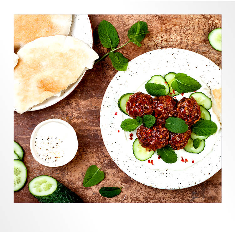 Spicy Meatballs Polaroid Photo